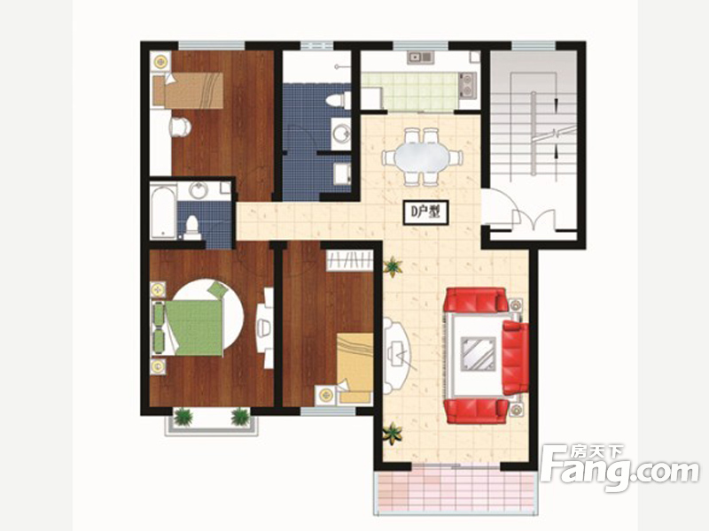 户型图 山东户型图 青岛户型图 莱西市楼盘户型图 御景世家3室2厅2卫