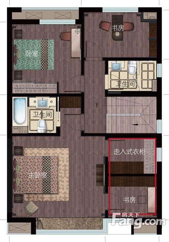 金瑞城市风景5室2厅3卫 178.00m2户型图