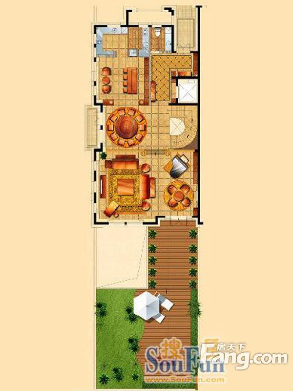 星海湾壹号3室5厅4卫|430.00m2_沙河口楼盘户型图